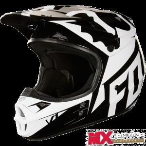 Fox V1 RACE HELMET, ECE black/white