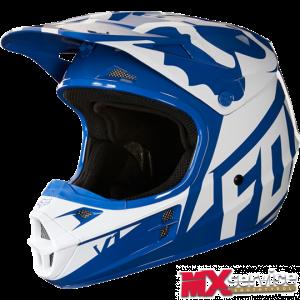Fox V1 RACE HELMET, ECE blue