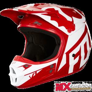 Fox V1 RACE HELMET, ECE red