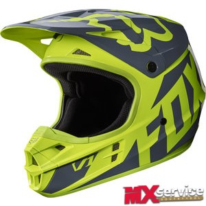 Fox V1 RACE HELMET YELLOW GLOSS FINISH