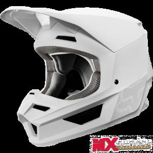 Fox V1 MATTE Helmet white