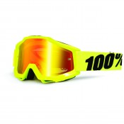 100% THE ACCURI FLUO YELLOW MIRROR RED LENS