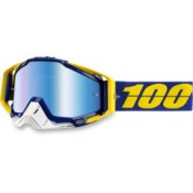 100% THE RACECRAFT LINDSTROM MIRROR BLUE LENS