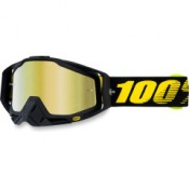 100% THE RACECRAFT RACE DAY MIRROR GOLD LENS