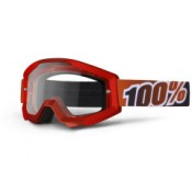 100% THE STRATA FIRE RED MIRROR CLEAR LENS