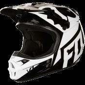 Fox V1 RACE HELMET, ECE white/black
