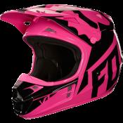 Fox V1 RACE HELMET, ECE pink