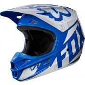Fox V1 RACE HELMET BLUE GLOSS FINISH