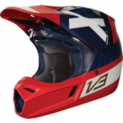 Fox V3 PREEST HELMET, ECE navy red