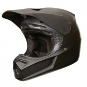 Fox V3 MATTE CARBON HELMET, ECE - matt black