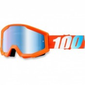 100% THE STRATA ORANGE MIRROR BLUE LENS