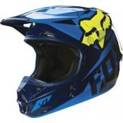 FOX V1 RACE HELMET BLUE/YELLOW