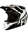 Fox V1 RACE HELMET, ECE black/white